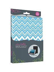 Elibrium 365 Designer Folios for iPad Mini - Zig Zag Blue