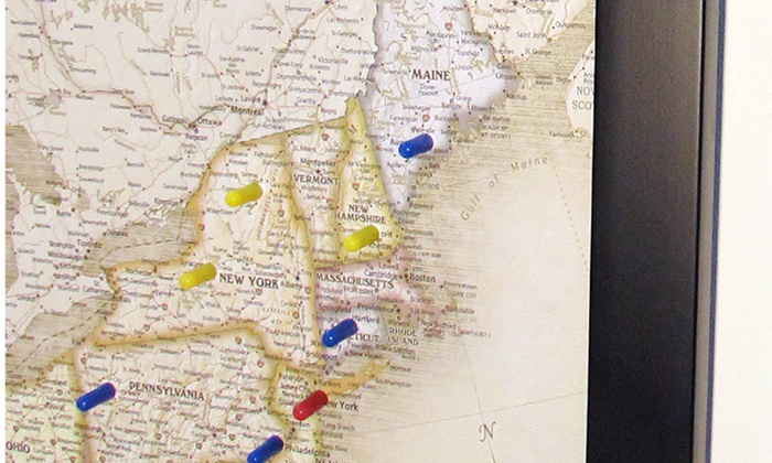 Map Of Usa With Pins.Home Magnetics Usa Magnetic Pin Travel Maps Blinq