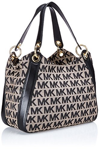 2f7273c1b8996e ... shop michael kors signature jacquard ludlow shoulder bag black 45514  5dc17