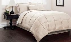 Hotel Park Ave Embossed Checker Comforter Set: Maroon/k