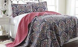 Amrapur Overseas 3-Piece Reversible Quilt Set - Sanya - Size: Full/Queen