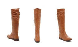 Bucco Bince Women's Riding Boots - Cognac - Size: 7.5