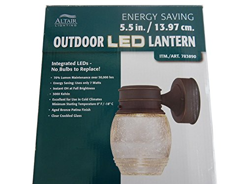 Altair Lighting Outdoor Led Lantern 3000 Kelvin Led Mini
