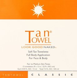 Tan Towel Full Body Classic Creme, 15 Count