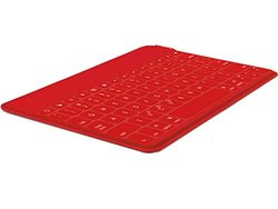 Logitech Keys-To-Go Ultra-Portable Bluetooth Keyboard for Tablets - Red
