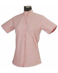 Tuffrider Women'S Starter Short Sleeve Show Shirt, Pink, 38