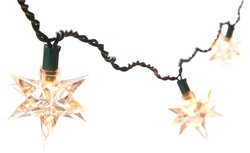 Kurt Adler 10 Light Indoor UL Star Treetop - White