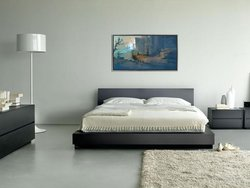 """""""Blue View"""" Print on gallery-wrapped canvas"""
