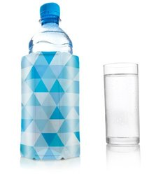 VacuVin Diamond Blue Active Water & Beer Bottle Cooler Sleeve