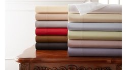 Hotel New York 800-Thread Count 100% Cotton Sheets - White - Size: Full