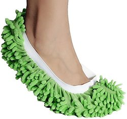 Microfiber Mop Slippers Washable: Green