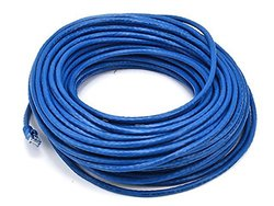 Monoprice 102119 100' 24-AWG CAT-6 UTP Ethernet Network Cable blue