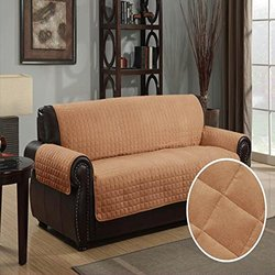 """Kashi Home 110X76"""" Sueded Furniture Quilted Protector Pet Cover - Camel"""