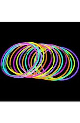 """100 20"""" Lumistick Brand Glowstick Necklaces Assorted Colors"""