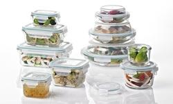 Glasslock 20-Piece Food Storage Container Set - Clear