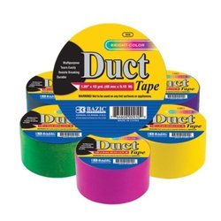 Bazic 36-Piece Lincoln Fluorescent Colored Duct Tape - Assorted