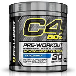 Cellucor C4 50X Pre Workout Supplement - Icy Blue Razz - 45 Servings