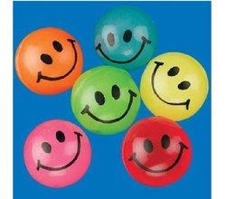 Fun Express Mini Neon Smile Face Bouncing Balls (Piece) 144