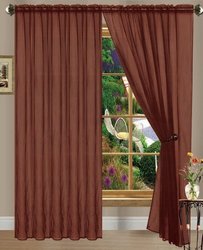 Chocolate Linda Sheer Voile Panel/curtain/drape; 60 inches wide X 84 inches long; One Panel Per Package