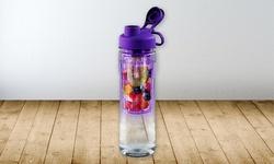 Tritan Water Bottle with Fruit Infuser - 28oz - Purple