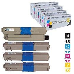 Clever Supplies Toner Cartridges 4 Color Set (Oki-Data-C330-Set)