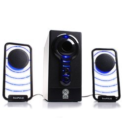 GoGroove Basspulse 2.1 Speaker System 17 W RMS iPod Supported - Black