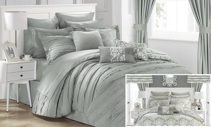 Chic Home 24-piece Donnella Bed in A Bag Comforter Set ...