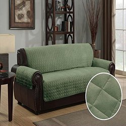 Furniture Protector Cover Quilted Microsuede Sofa - Sage - Size: 70x140
