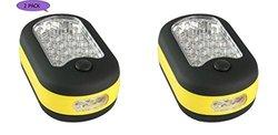 LED Work Light Hook Flashlight with Magnet: 24 bulbs (2 Pack)