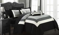 Danny 10-piece Bed In A Bag Comforter Set - Black - Size: Queen