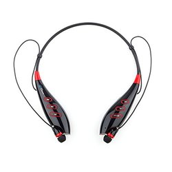 BTMaxx Wireless Bluetooth Headset with Headset Cover - Black-Red(Spica7b)