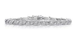 Beauty Gem Unisex 1/4 CTTW Genuine Diamond Bracelet
