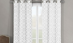 Duck River Woven Triple Layered Harries Grommet Panel Pairs - White