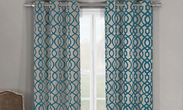 Triple Layered Blackout Curtain Panels Harris