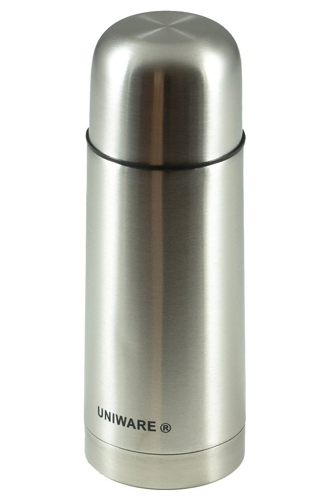 Uniware Vacuum 12 Ounce Stainless Steel Coffee Thermos Silver