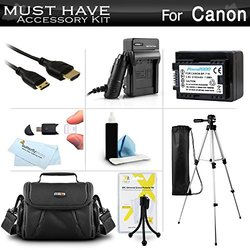 Must Have Accessory Kit For Canon Vixia Hf R52, Hf R50, Hf R500, Hf R62, Hf R60, Hf R600, Vixia Hf R700, Hf R72, Hf R70 Digital Camcorder Includes Replacement Bp-718 Battery + Charger + Case + More