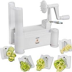Brieftons 5-Blade Spiral Vegetable Slicer & Veggie/Pasta/Spaghetti Maker
