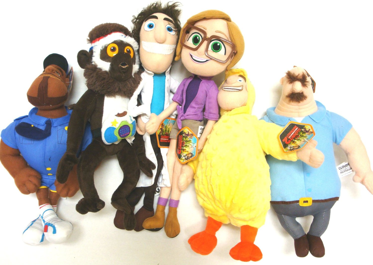 Cloudy with a Chance of Meatballs 2-6 Large Plush Doll Set ...
