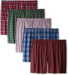 Hanes Men's 5 Pack Ultimate Tartan Boxers - Assorted Colors - Size: Medium