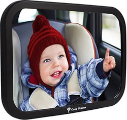 Cozy Greens Back Seat Rear-facing Infant in Sight Baby Car Mirror