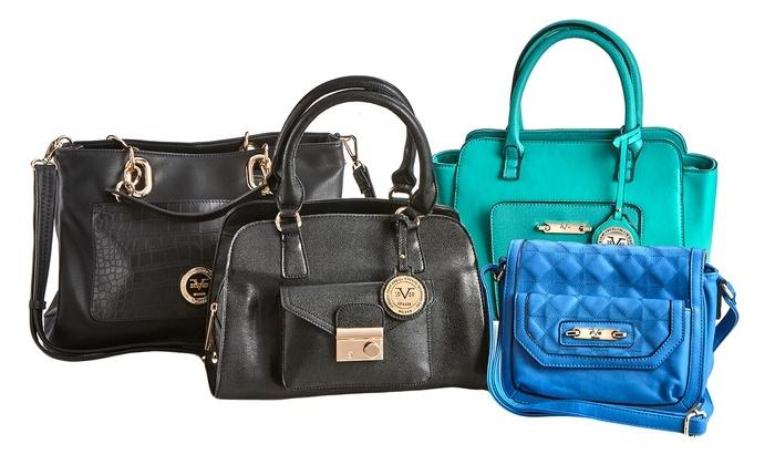 6b30782eac Versace V1969 Women s 12  x 10  Concordia Satchel Handbag - Biege ...