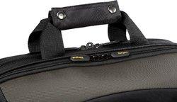 """Targus CityGear Miami 17"""" Messenger Laptop Case Nylon Gray/Yellow Black"""
