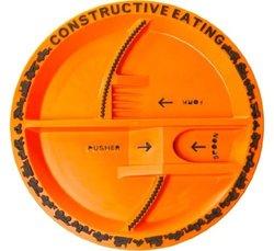 Constructive Eating Construction Plate - Orange