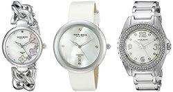 Akribos Women's Quartz Diamonds Bracelet Watches Set - AK887SS