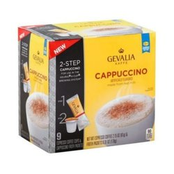 Gevalia Cappuccino Coffee Pods  - 9 Count- 8.46 Ounce