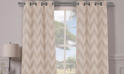 Lysanna Heavy Woven Triple Layered Blackout Panel Pairs - Taupe