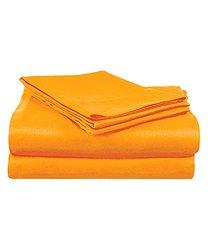 Super Brights Collection Microfiber Sheet Set: Orange/Full