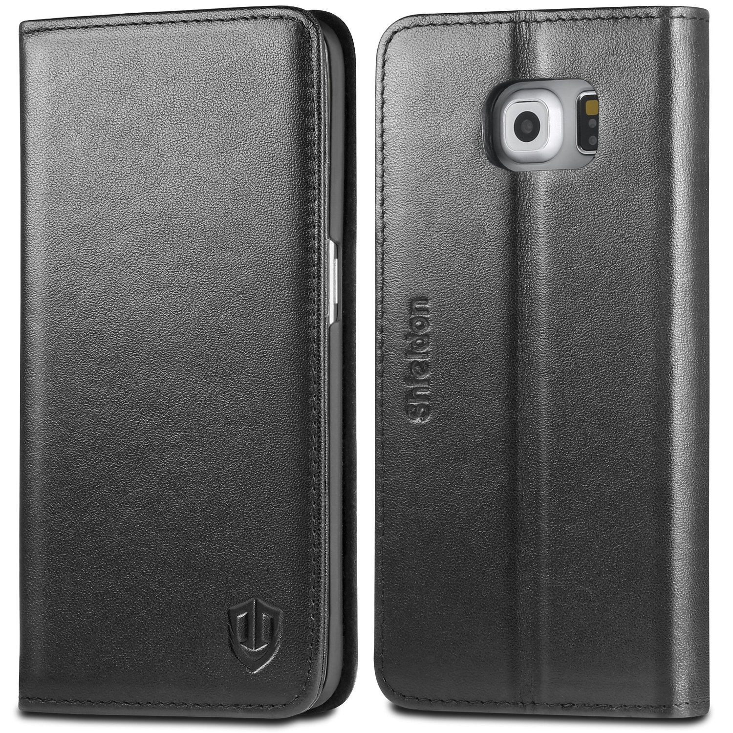 samsung galaxy s6 flip case black
