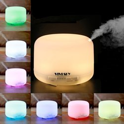 Vivisky 500ml Rotation Aroma Diffuser Ultrasonic Humidifier LED Color Changing Lamp Light Ionizer
