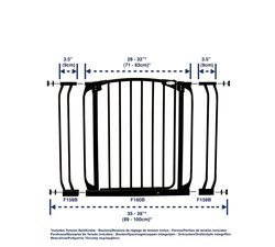 Dream Baby Swing Close Safety Gate in Black (L778B)